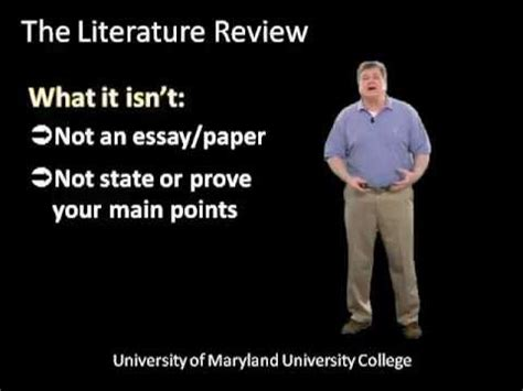 Why literature review is done