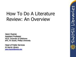 the literature review how old are the sources? patter